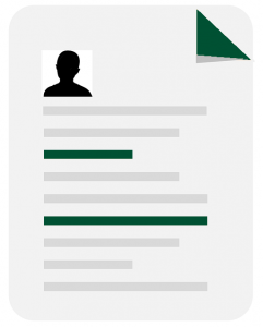 resume outline icon